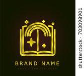 story golden metallic logo