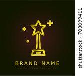 award golden metallic logo