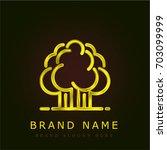 forest golden metallic logo
