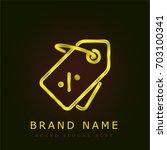 discount golden metallic logo