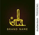 sweep golden metallic logo