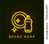 dish golden metallic logo