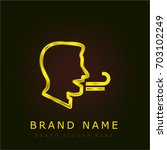 breath golden metallic logo
