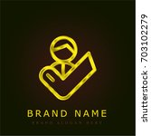customer golden metallic logo