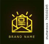 newsletter golden metallic logo