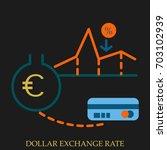 dollar exchange rate vector...   Shutterstock .eps vector #703102939