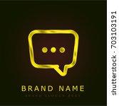 dialogue golden metallic logo