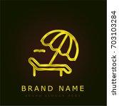 sunbed golden metallic logo