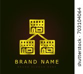 franchise golden metallic logo