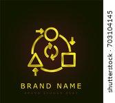 adaptation golden metallic logo