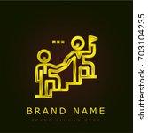 leadership golden metallic logo