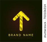 up arrow golden metallic logo