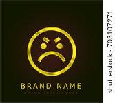 angry golden metallic logo | Shutterstock .eps vector #703107271