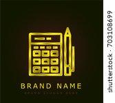 budget golden metallic logo