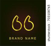 left quote golden metallic logo