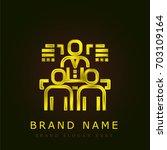 group golden metallic logo