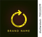 replay golden metallic logo
