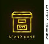 archive golden metallic logo