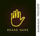 hold golden metallic logo