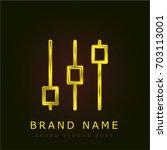 controls golden metallic logo