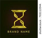 hourglass golden metallic logo