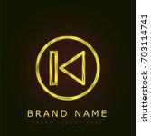 previous golden metallic logo