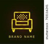armchair golden metallic logo