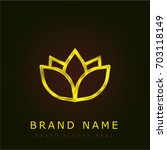yoga golden metallic logo | Shutterstock .eps vector #703118149