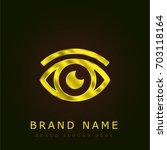 eye golden metallic logo