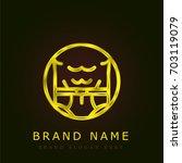 fit golden metallic logo