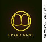 teeth golden metallic logo