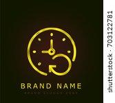 signs golden metallic logo