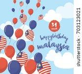 klcc  malaysia   august 31 1957 ... | Shutterstock .eps vector #703123021