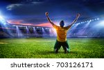 soccer player at stadium. mixed ... | Shutterstock . vector #703126171