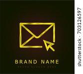 mail golden metallic logo