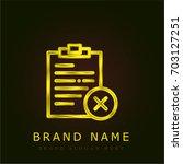 notepad golden metallic logo