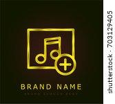 music player golden metallic...