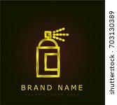 spray golden metallic logo