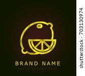 lemon golden metallic logo
