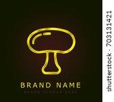 mushroom golden metallic logo