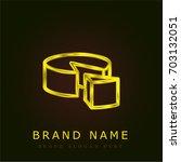 cheese golden metallic logo