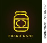 mustard golden metallic logo