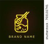 honey golden metallic logo