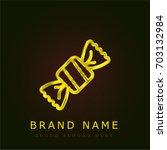 toffee golden metallic logo