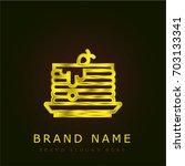 pancakes golden metallic logo