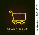 cart golden metallic logo