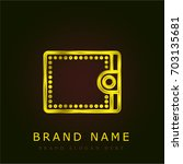 wallet golden metallic logo