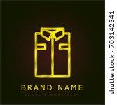 shirt golden metallic logo
