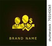 businessman golden metallic logo