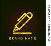 pen golden metallic logo
